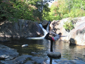 dancer at Smalls Falls, Maine